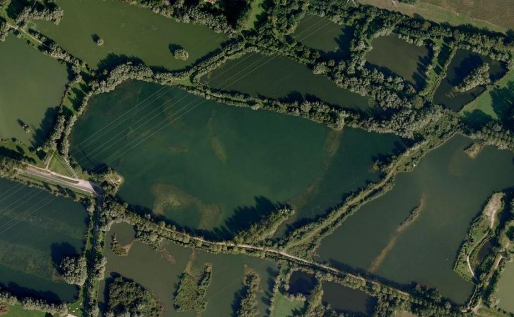 Vue aérienne plan eau